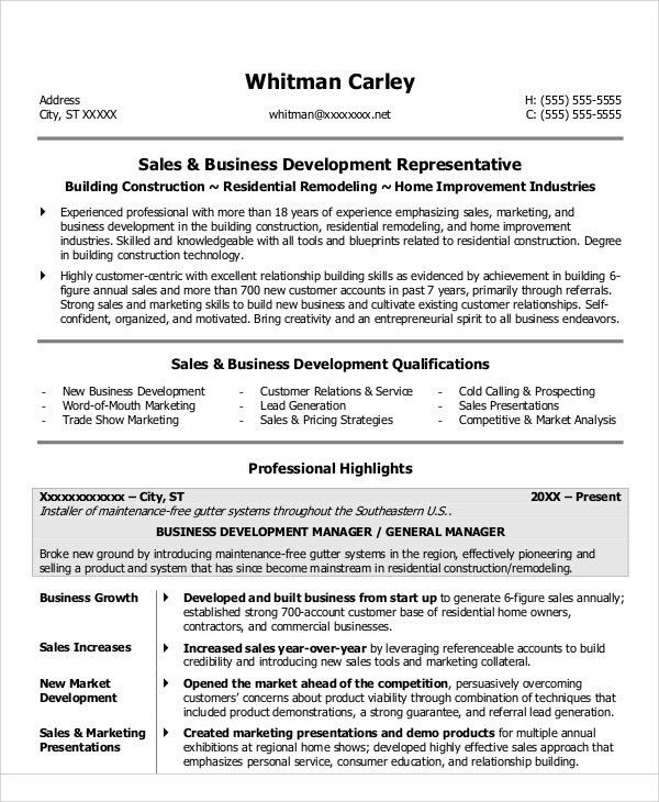 free sales resume templates the best cv template ideas on
