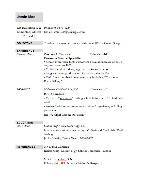 top ten resumes