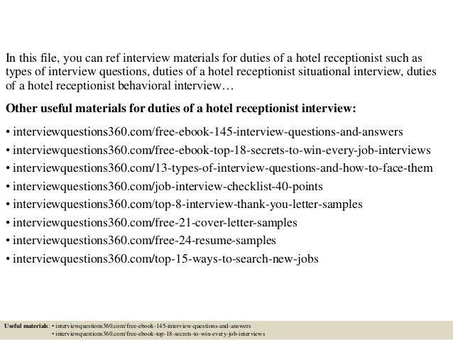 Receptionist Job Description. Receptionist Job Description ...