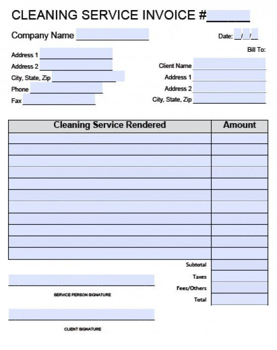 House Cleaning Sample Invoice House Cleaning Service - Resume ...