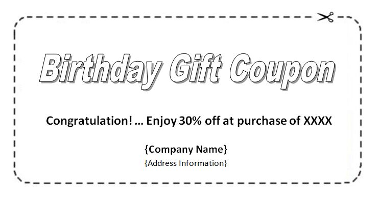 Coupon Templates – Free Printable Coupon & Voucher Templates