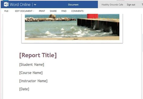 Free Student Paper Template For Word Online