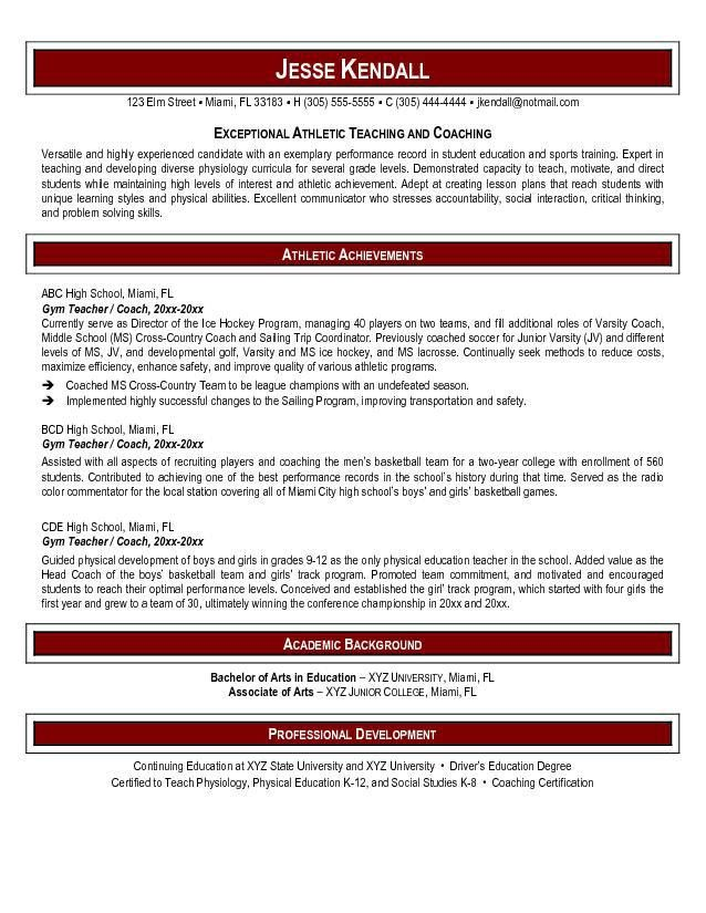 Surprising Design Ideas Physical Education Teacher Resume 10 25 ...