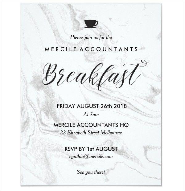 6+ Business Breakfast Invitations - JPG, Vector EPS, Ai ...