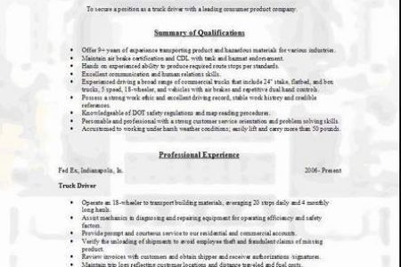 Truck Driver Resume References Template - Reentrycorps