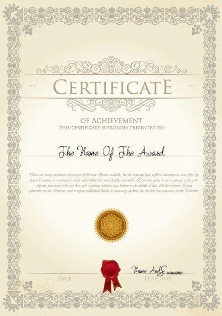 the certificate template design vector material | 3 Free digital ...