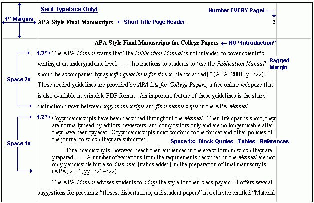 Apa Format Example Citation In Text - Compudocs.us