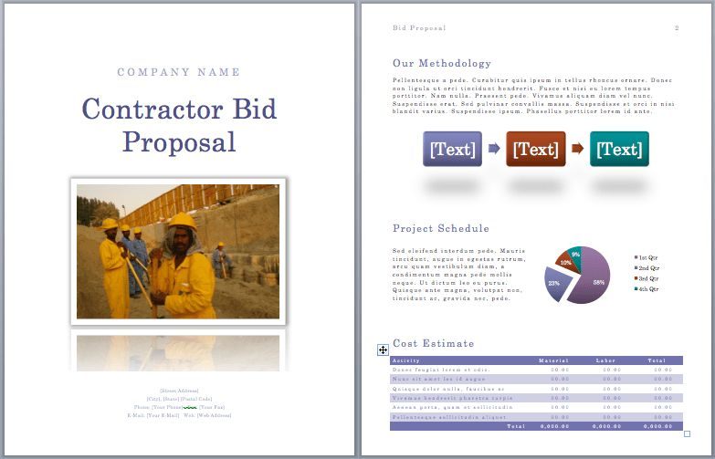 Bid Proposal Template Word : Selimtd