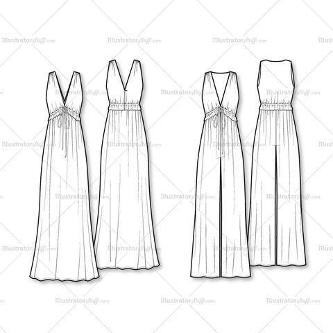 Women's Fashion Flat Templates – Illustrator Stuff
