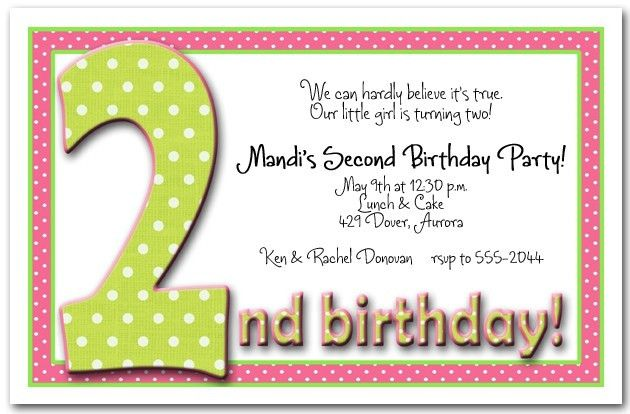 2Nd Birthday Invitations | badbrya.com