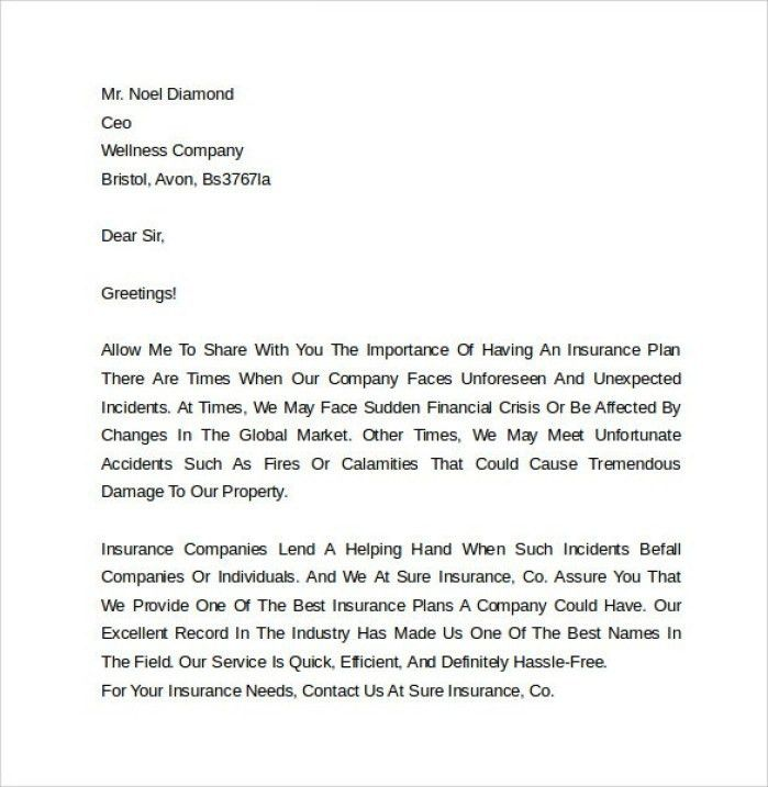 commercial underwriter cover letter