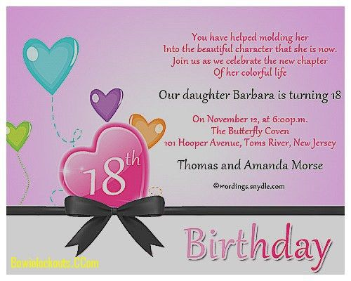 Invitation Design Ideas: 18th Birthday Invitation Cards Lovely ...