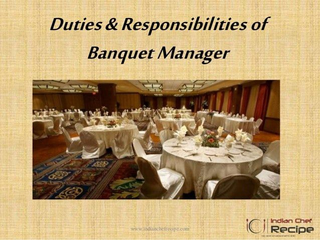 Duties and responsibilities of banquet manager