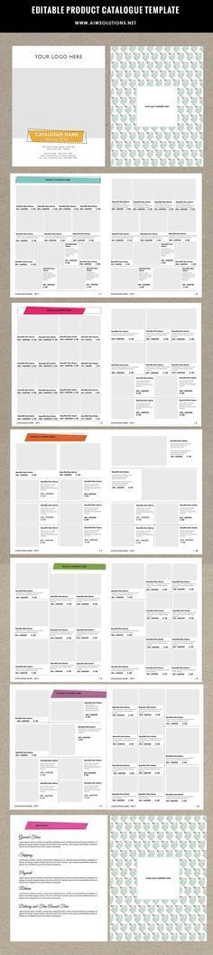 Wholesale Catalog template-id05   Product catalog template ...