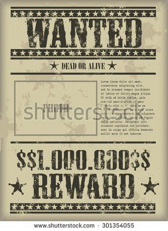 Wanted Vintage Western Poster Stock Vector 173416886 - Shutterstock