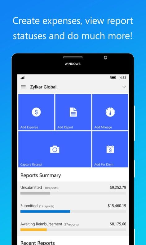 Get Zoho - Expense Reports - Microsoft Store