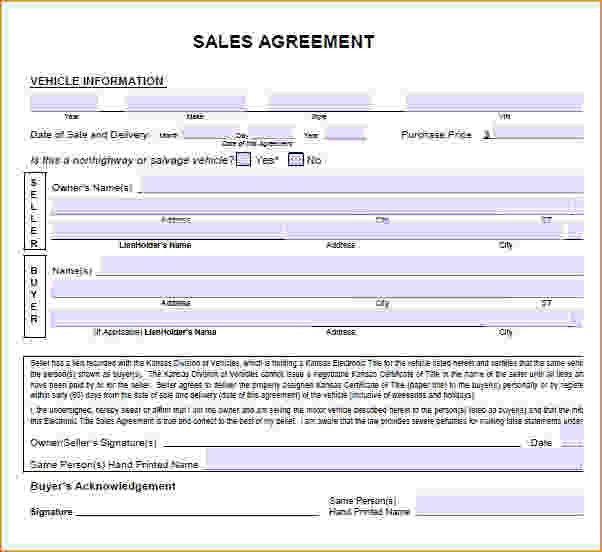 Sales Agreement Sample.car Sales Agreement.jpg - Pay Stub Template