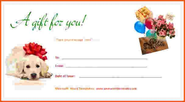 8+ gift certificate template word | Survey Template Words