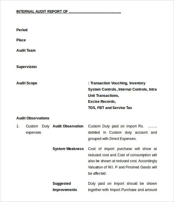 Chief Internal Auditor Cover Letter