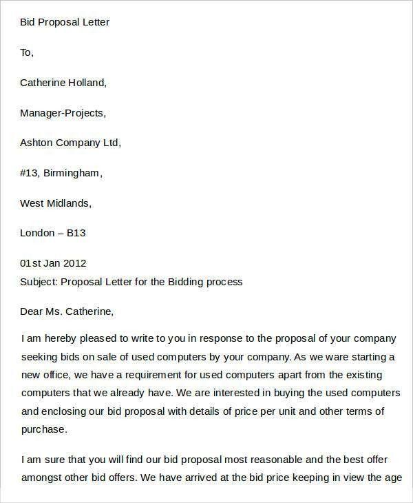 29+ Proposal Letter Templates | Free & Premium Templates
