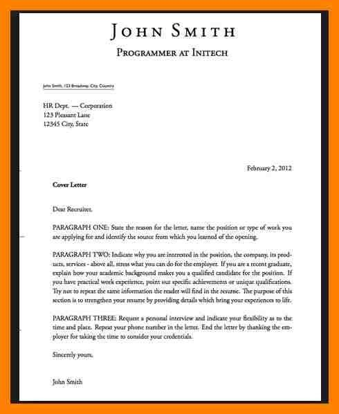 Interesting Inspiration What Does A Cover Letter Look Like For ...
