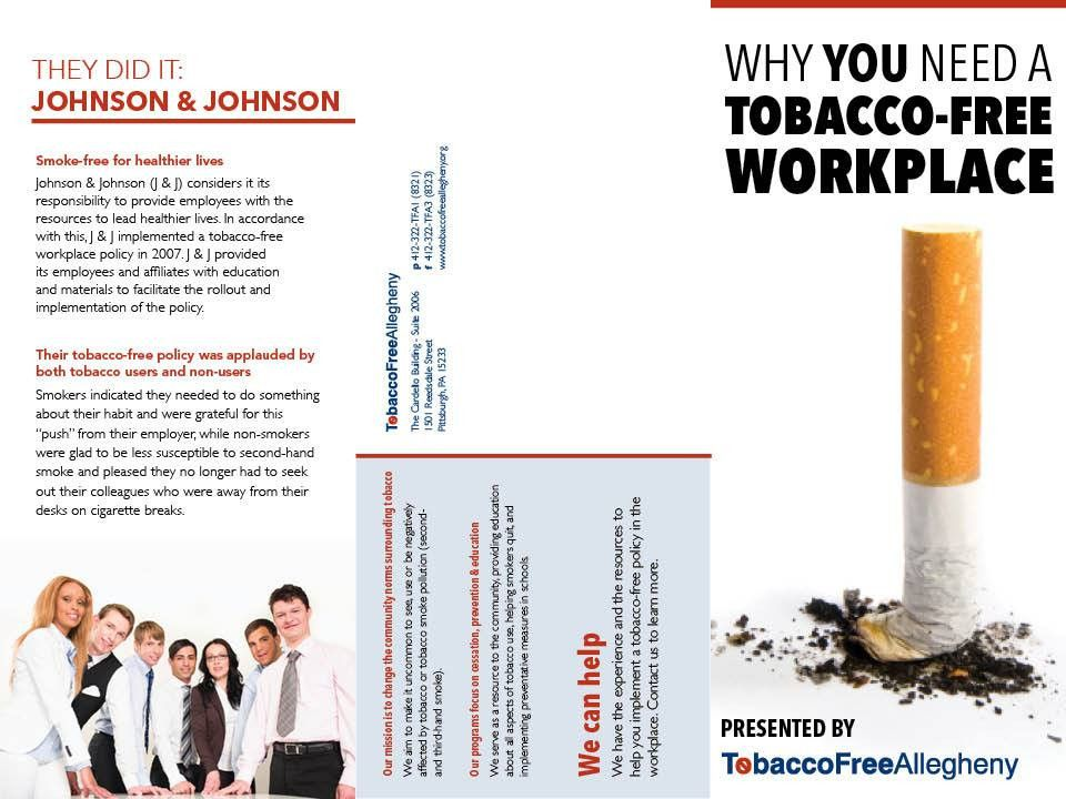 Pamphlet for Tobacco Free Allegheny — Emily Schlossman