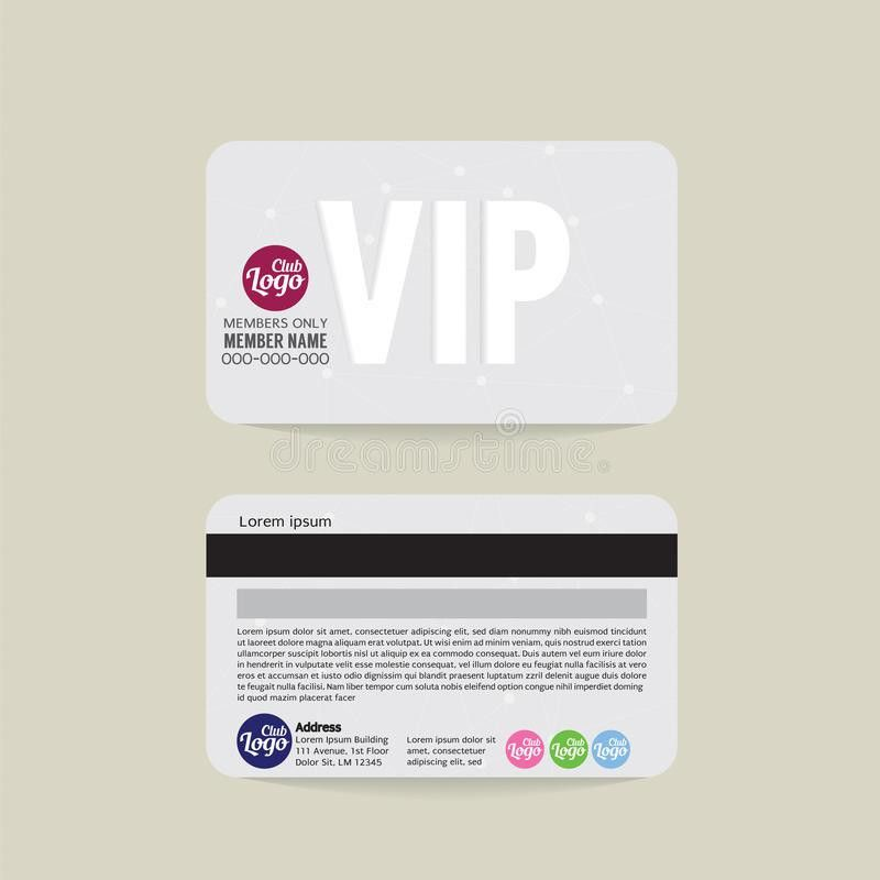 Front And Back VIP Member Card Template. Stock Vector - Image ...