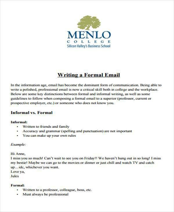 Professional Letter Format. Formal Email Business Letter Format ...