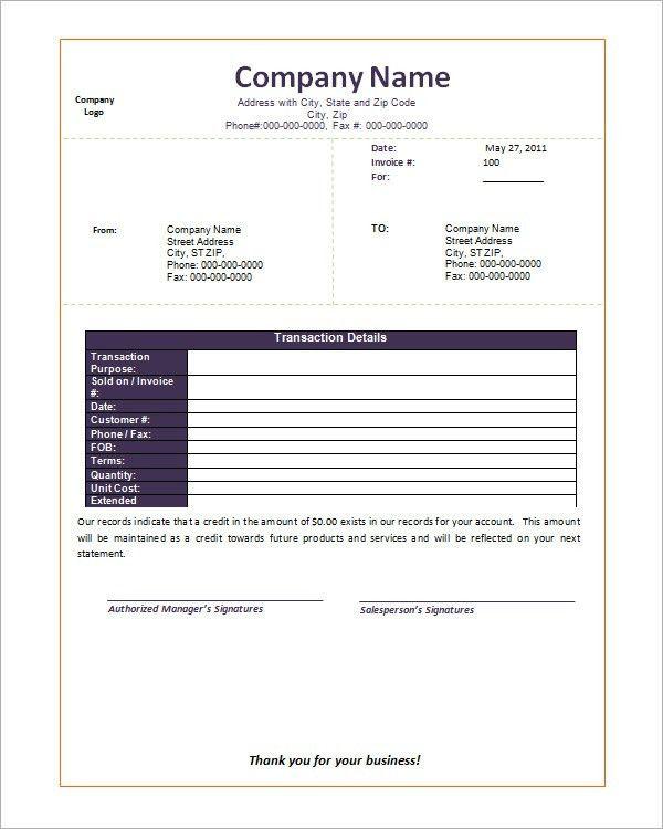 Blank Invoice Doc | printable invoice template