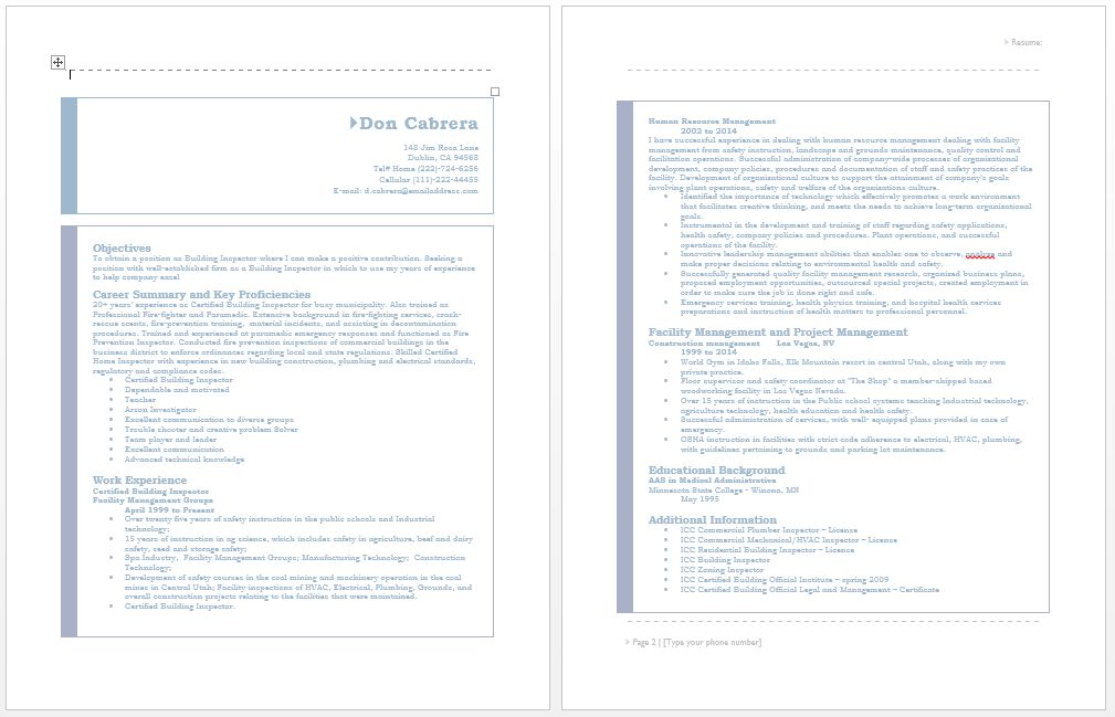construction inspector resume samples examples of construction ...
