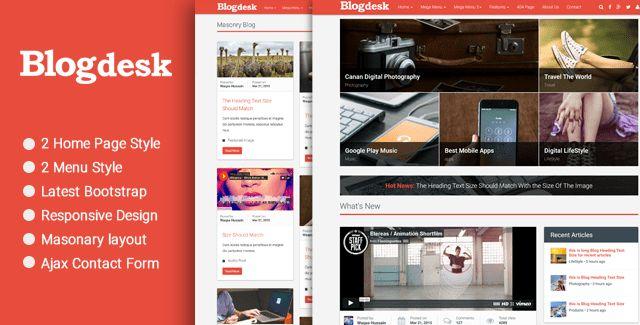 BlogDesk - Responsive HTML Blog Theme - HTML Bootstrap Template ...