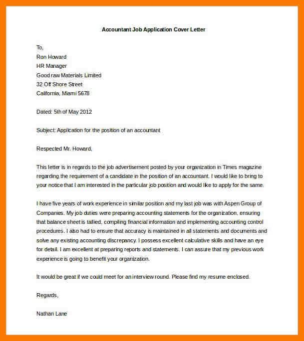 Job Application Letter. Mixture Of Recommendation, On Top Quality ...