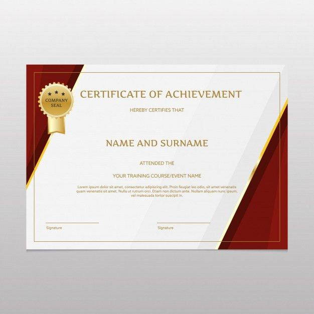 Luxury certificate of achievement Vector | Free Download