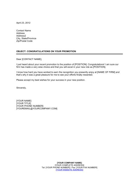 Congratulations on a Job Well Done - Template & Sample Form ...