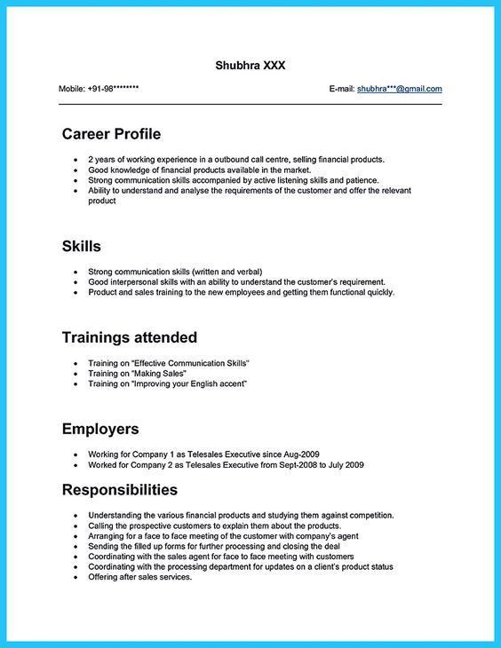 bpo call centre resume sample. bank call center agent resume ...