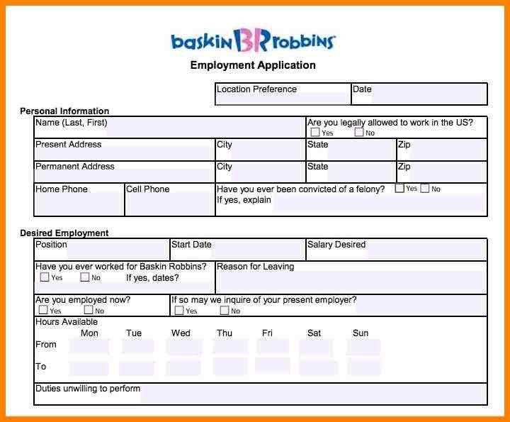 5+ baskin robbins jobs applications   barber resume