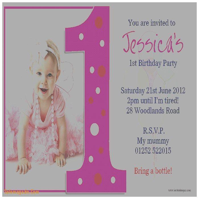 Birthday Cards. Luxury Sample Of 1st Birthday Invitation Card ...