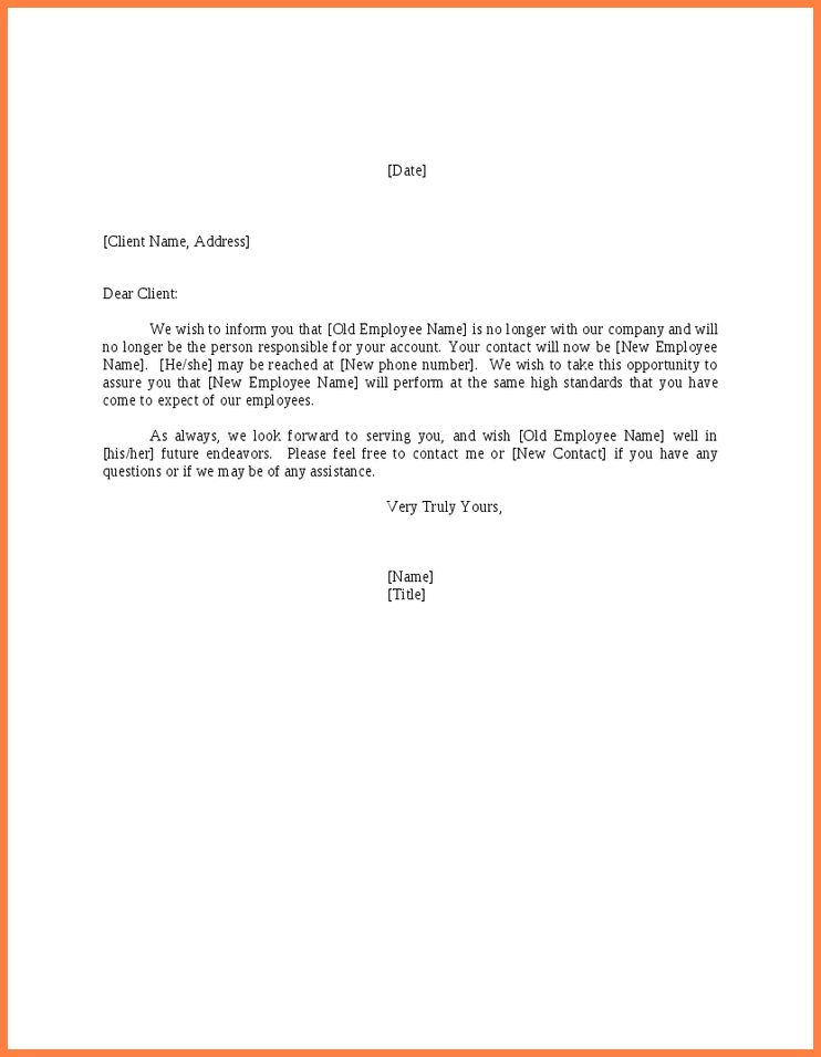 4+ change of address notice template | Second Notice Letter