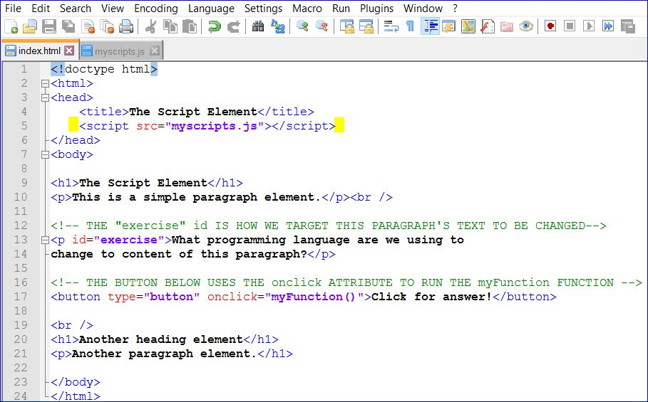 Script Tag: HTML Web Development Tutorial Series Part 18