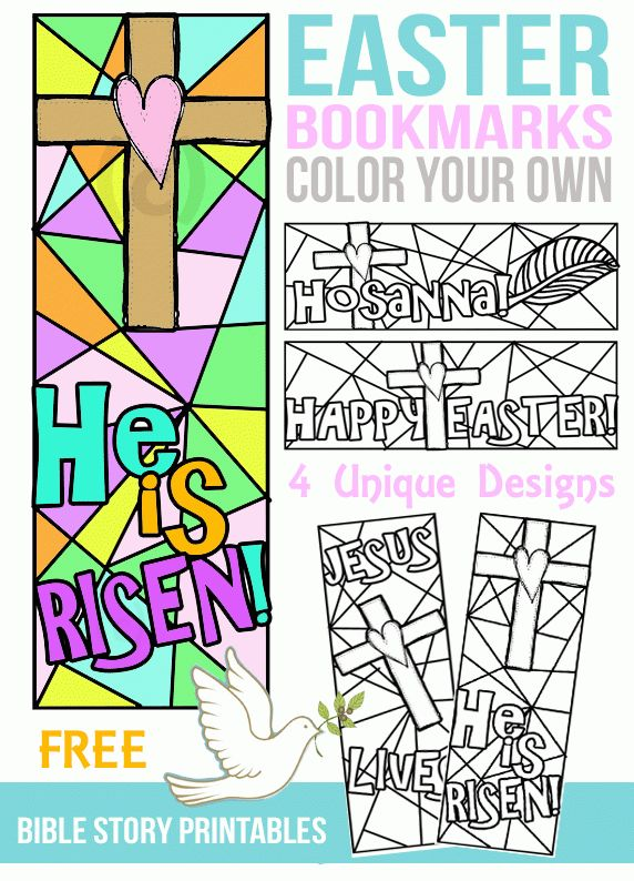 FREE Color Your Own Easter Bookmarks | Free coloring, Bookmarks ...