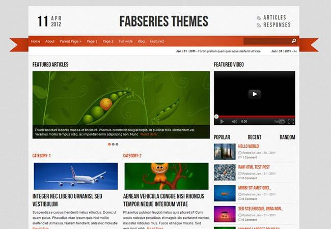 45 Free Wordpress Themes for 2012 - Flashuser