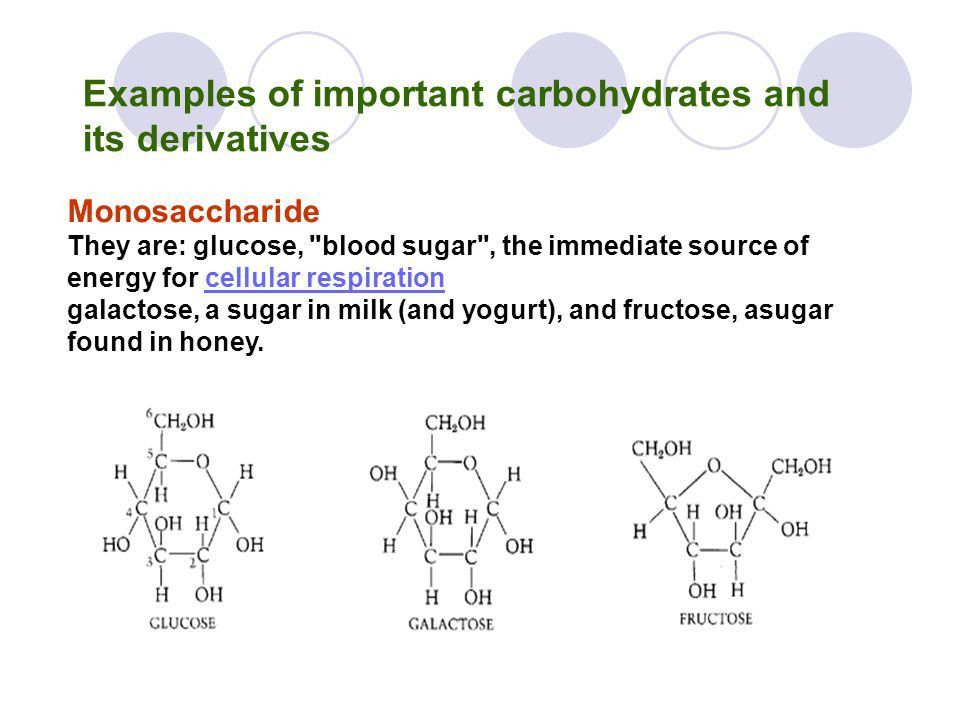 Lecture 2. Examples of important carbohydrates and its derivatives ...