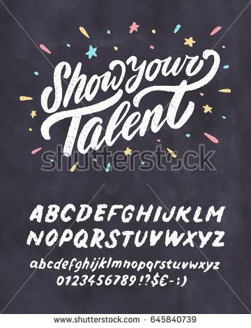Show Your Talent Vector Chalkboard Sign Stock Vector 645840739 ...