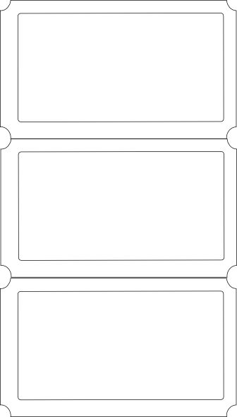 Three Pack of Blank Event Ticket Template Sample : Thogati