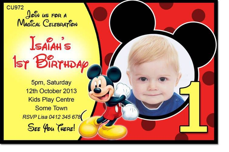 Mickey Mouse 1St Birthday Invitations | badbrya.com