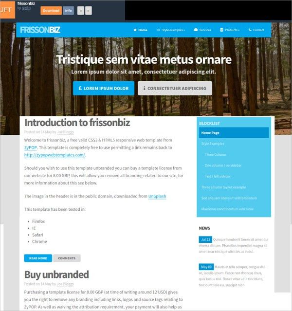 14+ Free Responsive HTML5 Website Templates & Themes | Free ...