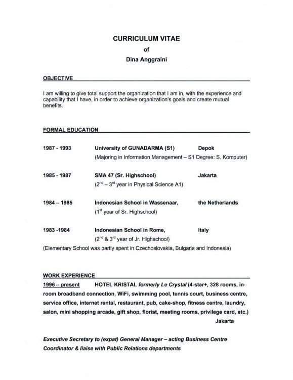 resume examples objective examples for a resume resume objective ...
