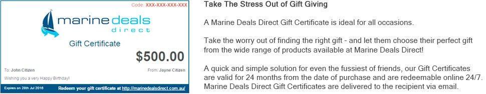 Marine Deals Direct - Gift Certificates