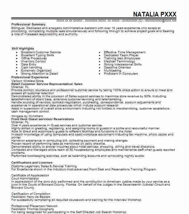 Customer Service Representative Sample Resume | Jobs.billybullock.us