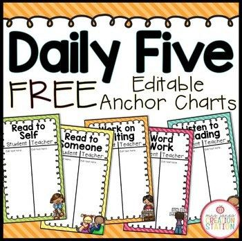 Daily Five Anchor Charts by Mrs Jones' Creation Station | TpT